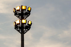 Flood Light in The Sky. Flood light Tower in evening sky Stock Photography