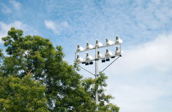 Flood Light Tower. The flood light tower errected at a national stadia in india Stock Image
