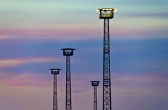 Flood light towers Stock Photography