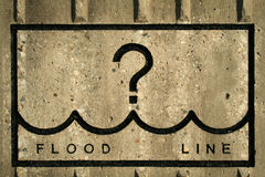 Flood Line. Where's the Flood Line Royalty Free Stock Images