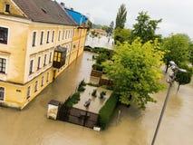 Flood 2013 linz, austria Royalty Free Stock Image
