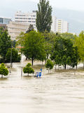 Flood, 2013, linz, austria Royalty Free Stock Images