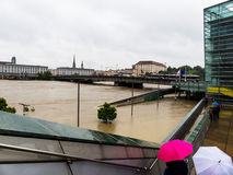 Flood, 2013, linz, austria Royalty Free Stock Photography