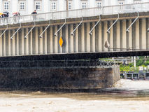 Flood in 2013, linz, austria Royalty Free Stock Images