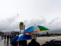 Flood in 2013, linz, austria Royalty Free Stock Image