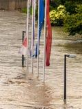 Flood 2013 linz, austria Stock Image