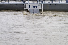 Flood in Linz 2013 Stock Image