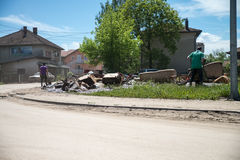 Flood in 2014 - Maglaj - Bosnia And Herzegovina Royalty Free Stock Images