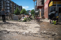 Flood in 2014 - Maglaj - Bosnia And Herzegovina Royalty Free Stock Photography