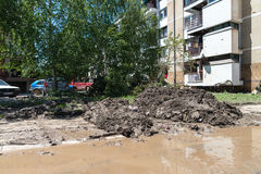 Flood in 2014 - Maglaj - Bosnia And Herzegovina Stock Photography