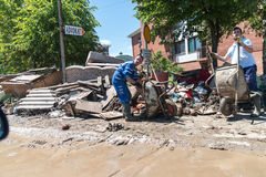 Flood in 2014 - Maglaj - Bosnia And Herzegovina Stock Image