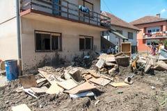 Flood In 2014 Maglaj - Bosnia And Herzegovina Royalty Free Stock Photography