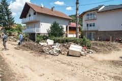 Flood In 2014 Maglaj - Bosnia And Herzegovina Stock Images