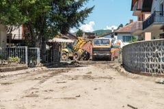 Flood In 2014 Maglaj - Bosnia And Herzegovina Royalty Free Stock Photo