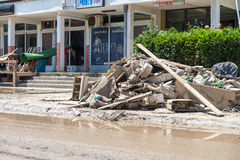 Flood In 2014 Maglaj - Bosnia And Herzegovina Royalty Free Stock Images