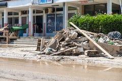 Flood In 2014 Maglaj - Bosnia And Herzegovina Royalty Free Stock Images