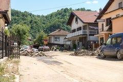 Flood In 2014 Maglaj - Bosnia And Herzegovina Stock Image