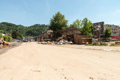 Flood In 2014 Maglaj - Bosnia And Herzegovina Royalty Free Stock Photos