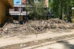 Flood In 2014 Maglaj - Bosnia And Herzegovina Stock Photo