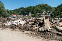 Flood In 2014 Maglaj - Bosnia And Herzegovina Stock Photos