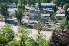 Flood In 2014 Maglaj - Bosnia And Herzegovina Royalty Free Stock Photography