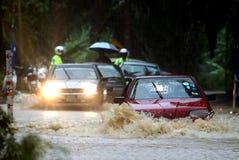 Flood, Malaysia. LABIS January 30th, 2011. Heavy rains cause irregular flood North Labis Estate, Johor, Malaysia stock photo
