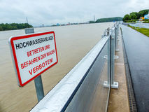 Flood in 2013, mauthausen, austria Stock Photo