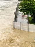 Flood in 2013, mauthausen, austria Royalty Free Stock Image