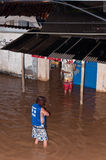 Flood at Night. Flood in poor living area near Rio de Janeiro, Brazil Royalty Free Stock Photo