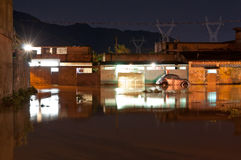 Flood at Night Royalty Free Stock Photography