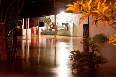 Flood at Night. Flood in poor living area near Rio de Janeiro, Brazil stock photos