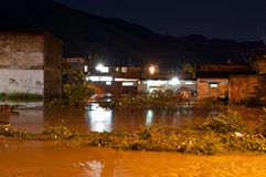 Flood at Night Royalty Free Stock Photos