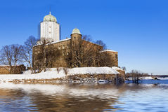 Flood at the old castle Royalty Free Stock Images