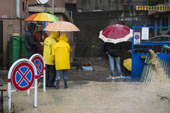 Flood. One moment of the flood which took place in Genoa, October 10, 2014 Royalty Free Stock Photos