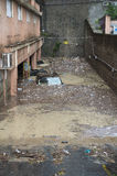 Flood. One moment of the flood which took place in Genoa, October 10, 2014 Stock Photos