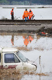 Flood Orange No.2 Stock Photo