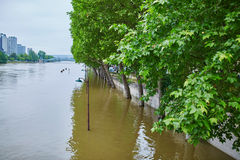 Flood in Paris Royalty Free Stock Photography