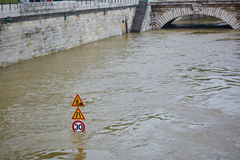 Flood in Paris Royalty Free Stock Images