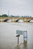 Flood in Paris Stock Photo
