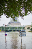 Flood in Paris Royalty Free Stock Image