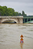 Flood in Paris Stock Photography