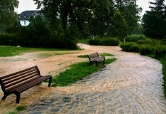 Flood in park Stock Photography