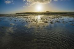 The flood plain of the beautiful Cuckmere River in East Sussex, England royalty free stock photo