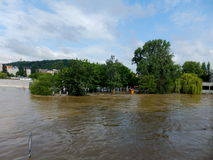 Flood in Prague. Flooded city - flood in Prague in 2013 Stock Image
