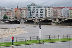 Flood in Prague Stock Images