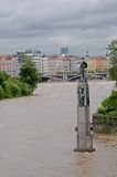 Flood in Prague Royalty Free Stock Images