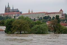 Flood in Prague. Flood on the river Vltava in Prague, Czech republic royalty free stock photo