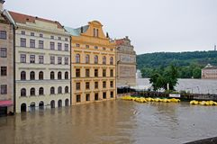 Flood in Prague Royalty Free Stock Image