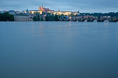 Flood in Prague Royalty Free Stock Photos