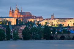 Flood in Prague Stock Photo